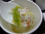 鮭チャウダーと野菜のリゾット風